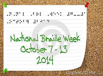 National Braillle week - October 2014.