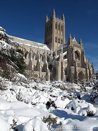 National Cathedral in February