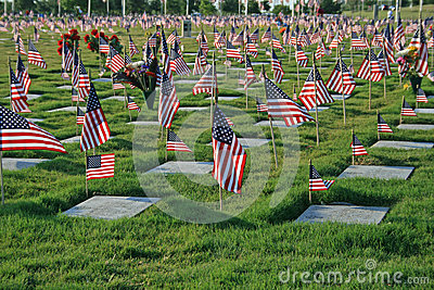National cemetery Editorial Stock Image