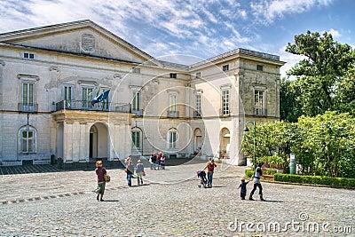 Neoclassic villa museum Editorial Stock Image