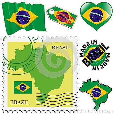 National colours of Brazil