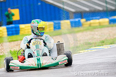 National contest of karting 2010 Editorial Photography