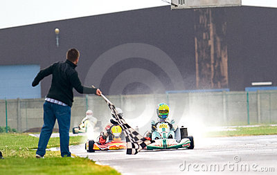National contest of karting organized by Amckart Editorial Image