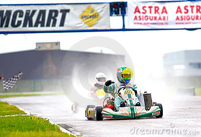 National contest of karting organized by Amckart Editorial Photo