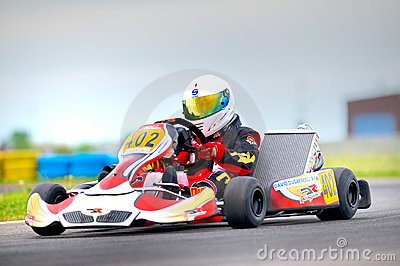 National contest of karting organized by Amckart Editorial Stock Photo