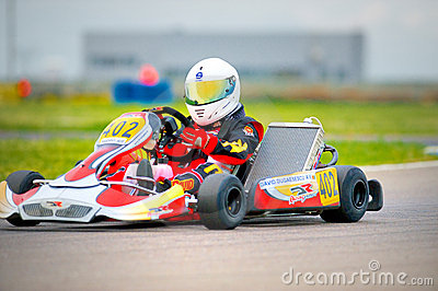 National contest of karting organized by Amckart Editorial Stock Image