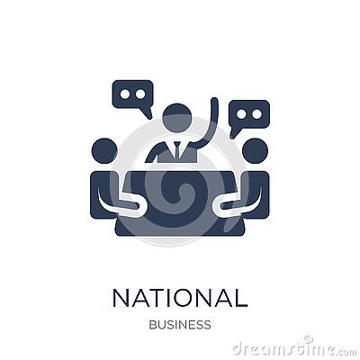 National Economic Council icon. Trendy flat vector National Econ Vector Illustration