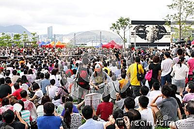 National Education  Stirs Protests in Hong Kong Editorial Image