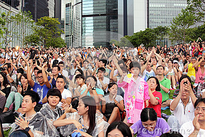 National Education  Stirs Protests in Hong Kong Editorial Stock Photo