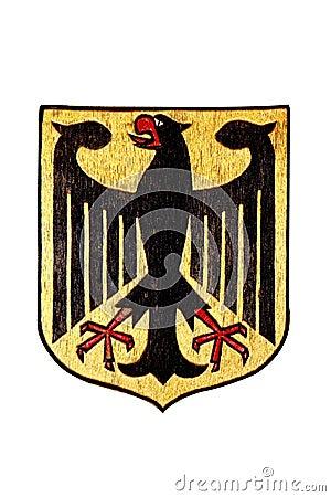 National Emblem of Germany isolated on White