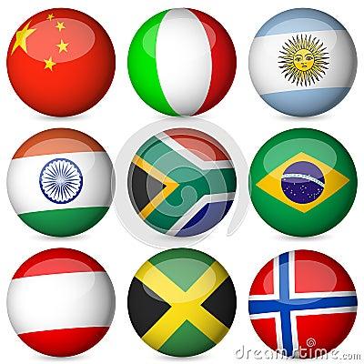 National flag ball set 2