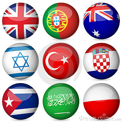 Free National Flag Ball Set Stock Photos - 21136093