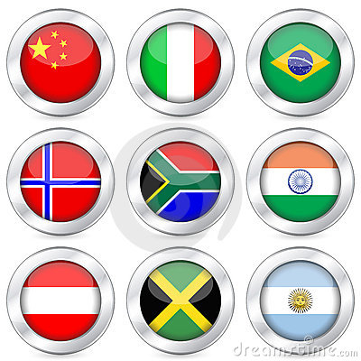 National flag button set 2