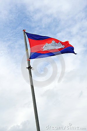 National flag of Cambodia Kingdom
