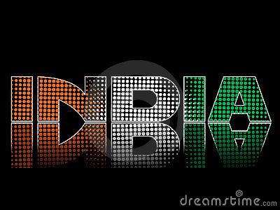 National flag colors on black background.