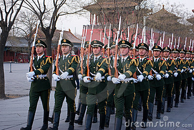 National flag guards Editorial Stock Image