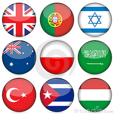 Free National Flag Icon Set 4 Royalty Free Stock Photo - 12882475