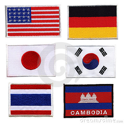 National flag, made ​​of woven fabric