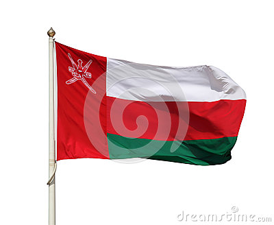 The national flag of Oman