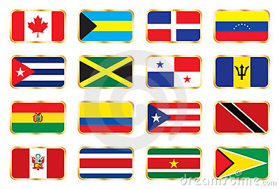 National flags - American set.