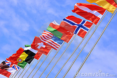 National flags of different country