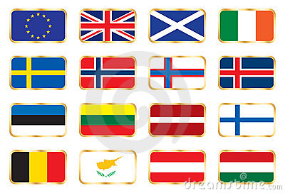 National flags - European set