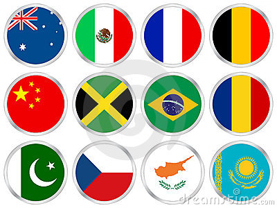 National flags icon set 2