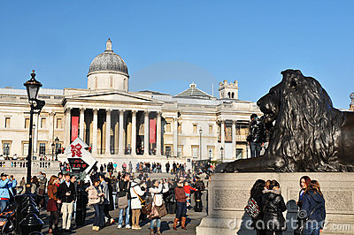 National Gallery, London Editorial Stock Image
