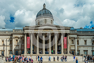 National Gallery in London Editorial Stock Image