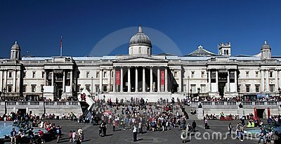 The National Gallery in London s Trafalgar Square Editorial Stock Photo
