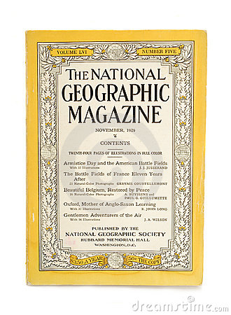 National geographic magazine Editorial Stock Photo