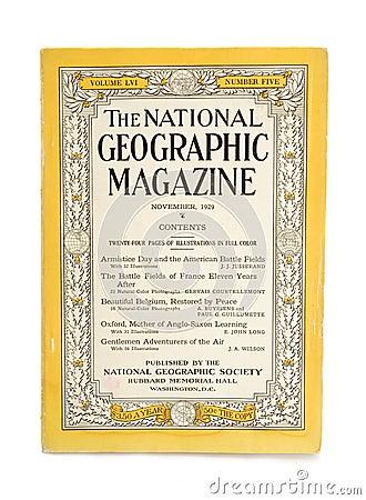 National geographic magazine Editorial Stock Photo