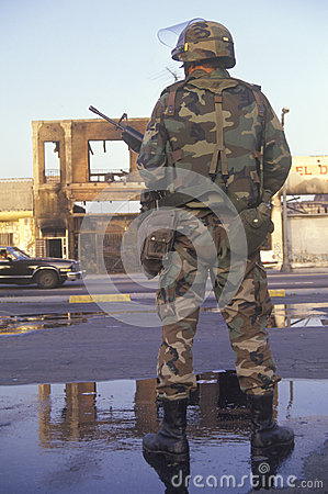 National Guardsman Editorial Stock Image