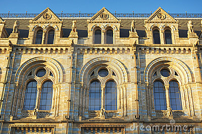 National History Museum: windows details, London