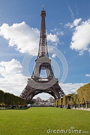 National landmark Eiffel tower in Paris France
