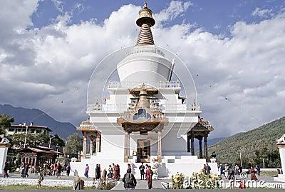 The National Memorial Chorten at Thimphu,Bhutan Editorial Photography