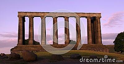 National monument Calton Hill, Edinburgh, Scotland