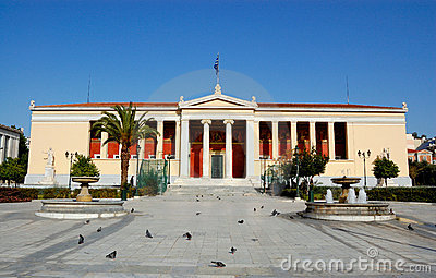 Main building of the old university of Athens, Greece