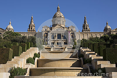 National Palace - Barcelona - Spain Editorial Stock Image