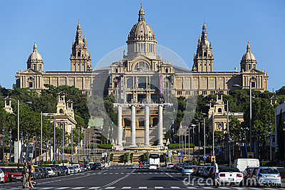 National Palace - Barcelona - Spain Editorial Photo