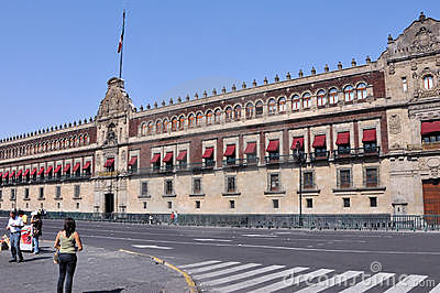National Palace Mexico City Editorial Photography