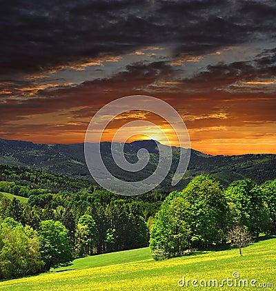 National park Sumava in Czech Republic