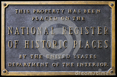 National Register of Historic Places Sign Plaque Editorial Photo