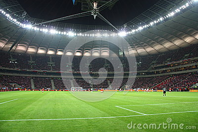 National Stadium in Warsaw Editorial Photography