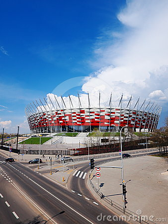 National Stadium in Warsaw, Poland Editorial Stock Image