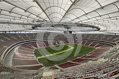 The National Stadium in Warsaw, Poland Editorial Image