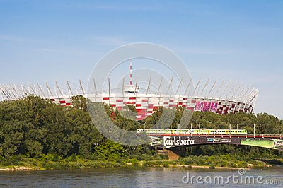 National Stadiumin Warsaw, Poland Editorial Stock Photo