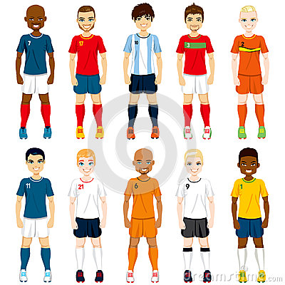 Free National Team Soccer Players Royalty Free Stock Image - 40395106
