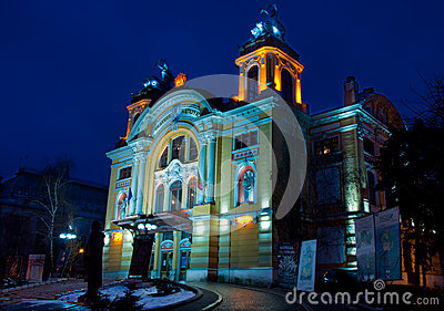 National Theatre of Cluj-Napoca, Romania Editorial Image