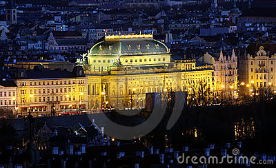 National Theatre - Prague in night